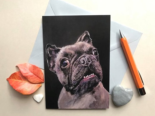 French Bulldog Art Card
