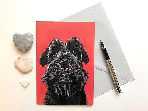 Schnauzer Art Card