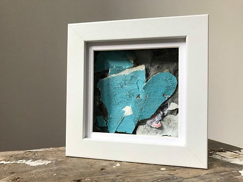 'Fragmented 39' - Original Mini Decay Painting