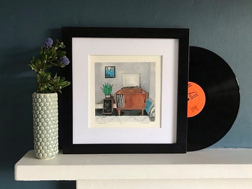 'Vintage Vinyl' Giclee Print