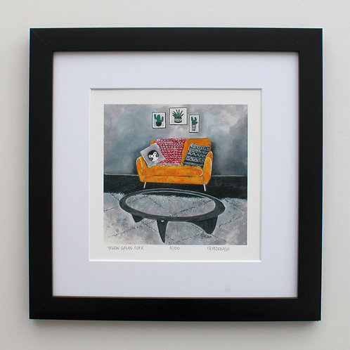 'GPlan Yellow Sofa' Giclee Print