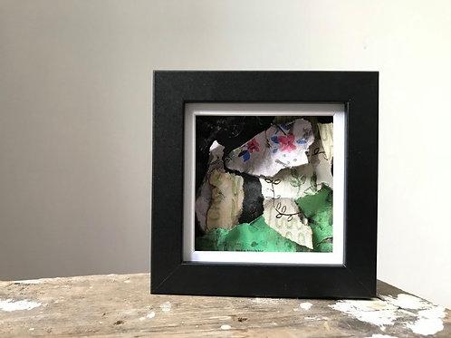 'Fragmented 41' - Original Mini Decay Painting