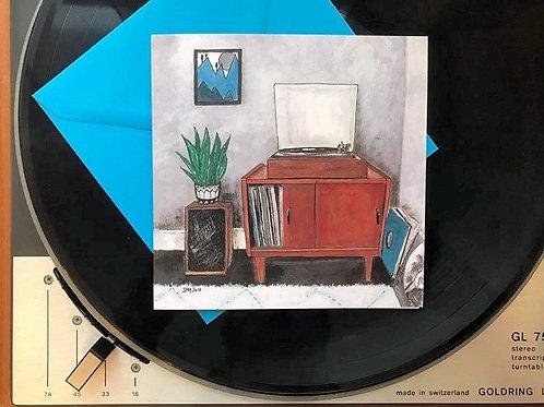 Art Card 'Vintage Vinyl'