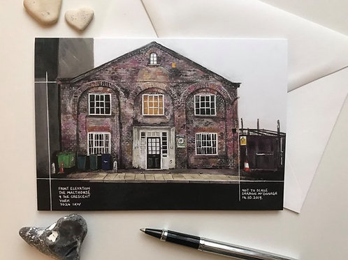Art Card Featuring the 'Malthouse' Painting