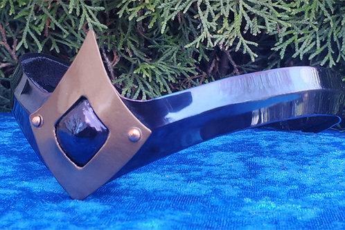 Teardrop Crown - Blue Bronze