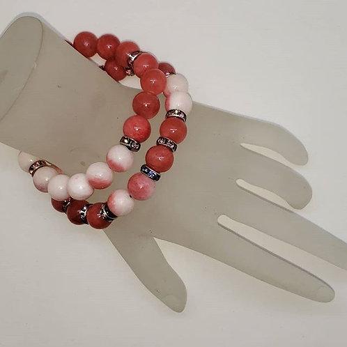 Carnelian Bracelet (set of 2)