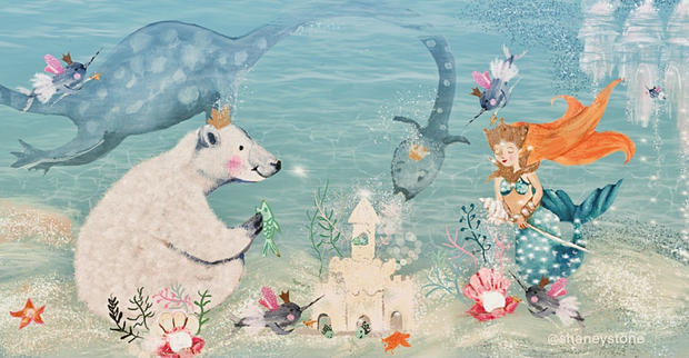 polar bear mermaid and sea dragon.jpg