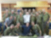 Rav Elyakim Levanon with soldiers from Elon Moreh