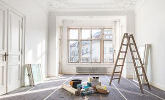 painter ladder in room