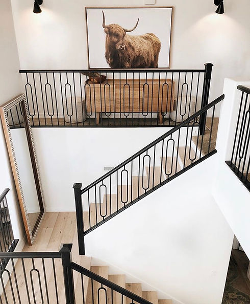 fresh white and black staircase