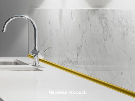 """จบงานเข้ามุมให้สวยน่ามอง ด้วย """"กรุยเชิงอลูมิเนียมเข้ามุมสีทอง"""" จาก Napavas Product"""