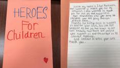 Little girl shares a heartfelt note of gratitude!