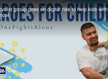 """FOX News 26 Houston - """"Bicyclist group goes on digital ride to help kids with cancer"""""""