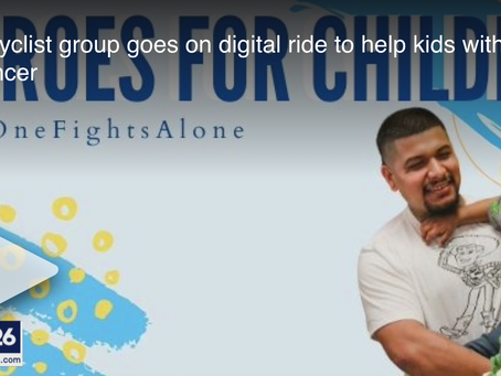"FOX News 26 Houston - ""Bicyclist group goes on digital ride to help kids with cancer"""