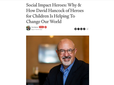 Article in Authority Magazine: Social Impact Heroes