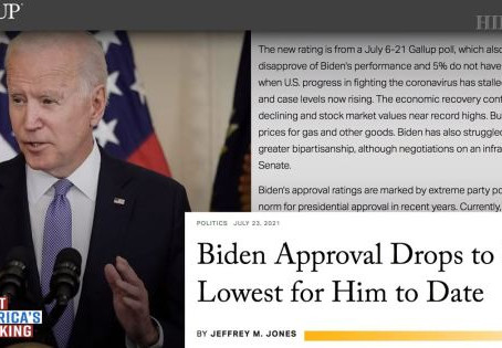 Biden's Approval Rating Is Dropping Fast