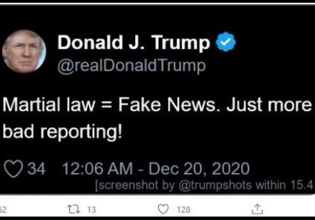 Martial Law = Fake News