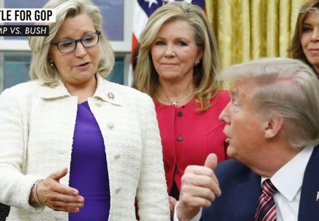 The Right Resistance: Establishment RINOs reunite for Liz Cheney; Trump rallies for America