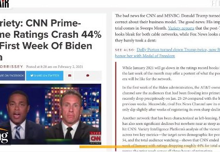 The Right Resistance: Trump-less establishment media suffers ratings disaster with boring Biden