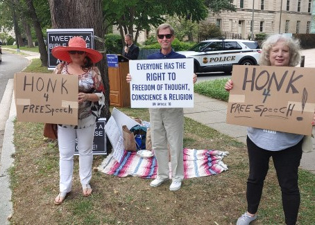 Report From Christian Prisoners Of Conscience Protest