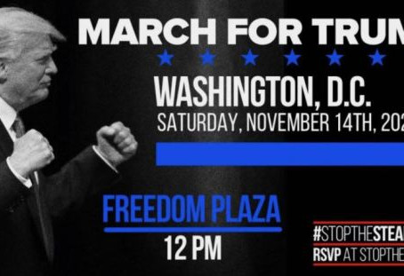 Million MAGA March Still On For DC, Sat 11/14