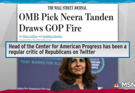 Tell Your Senators To Vote NO On Vicious Leftist Neera Tanden For OMB Director