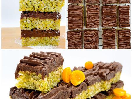   RECETTE     Une collation croquante & énergisante au thé Matcha et aux Brownies