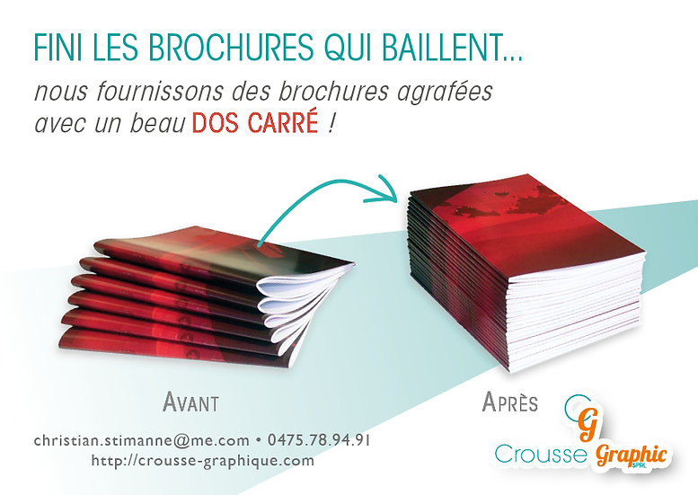 100 brochures A4 agrafées (32 pages + couverture)