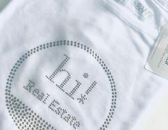 Camiseta de Tencel con logo en Strass