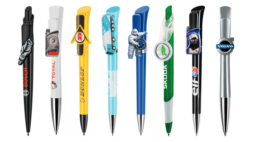 Bolígrafos con clip personalizados especial sector automoción