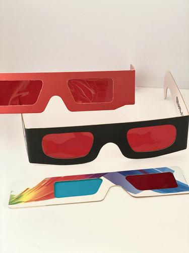 Gafas 3D en carton personalizado