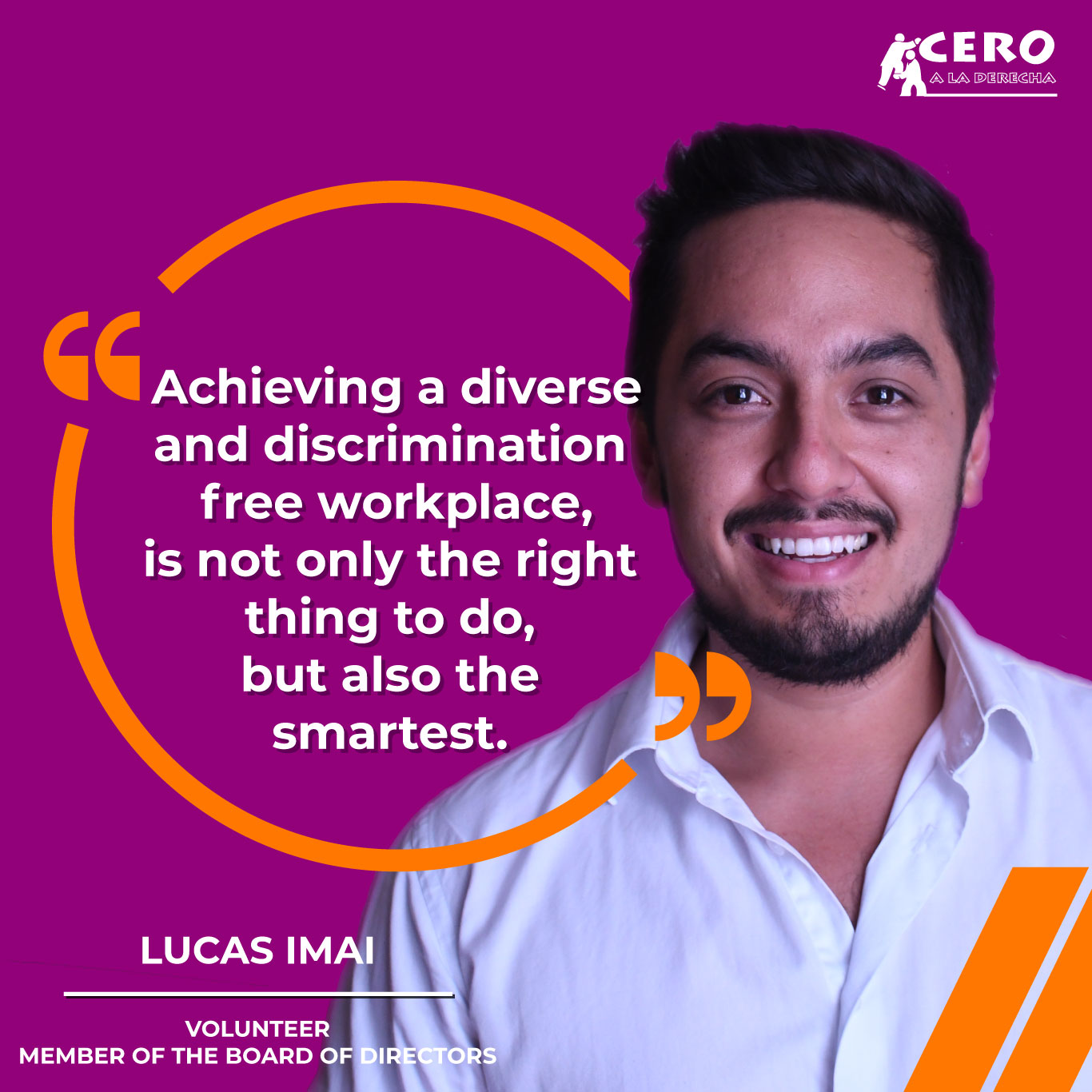 Achieving a diverse and discrimination free work environment, is not only the right thing to do, but