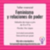 Taller vivencial - Feminismo y relacione