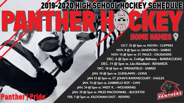 PINAWA PANTHERS HOCKEY SCHEDULE IS OUT!