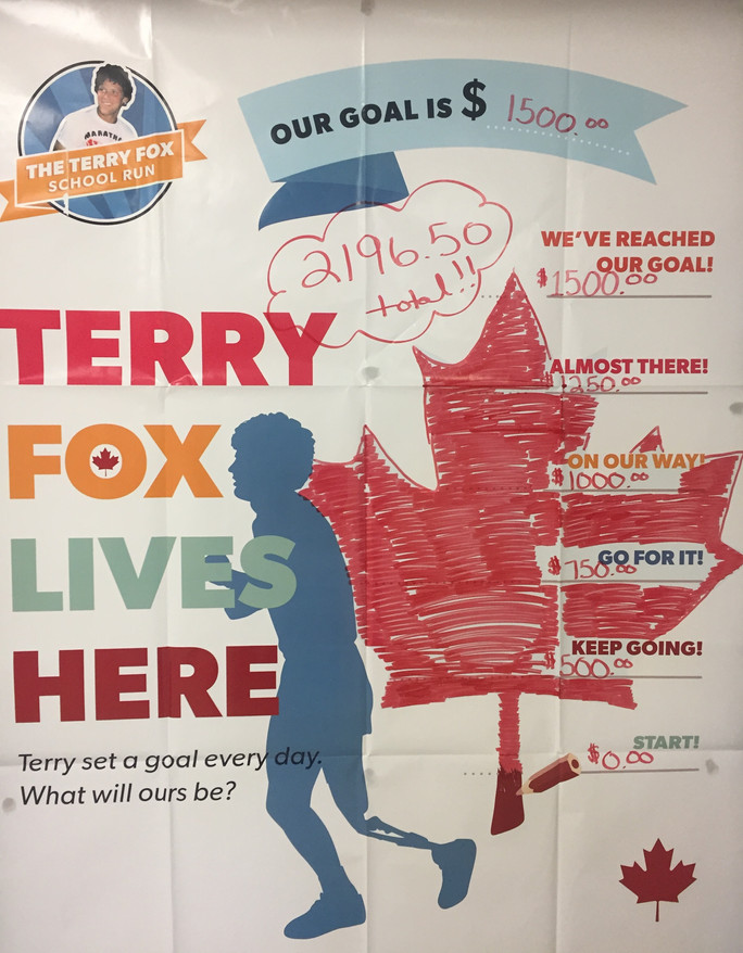 Terry Fox Foundation Donation