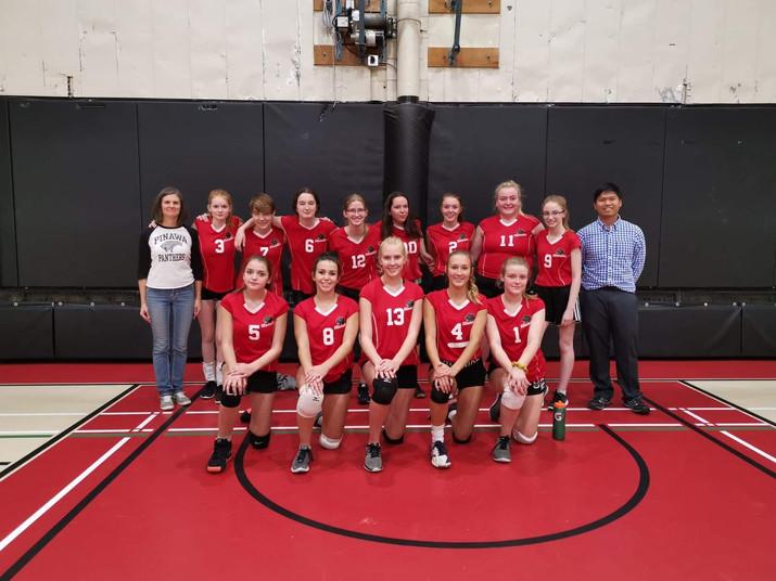 Varsity Girls Volleyball WINS!