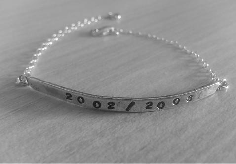 Bracelet demi jonc et chaine en argent 925