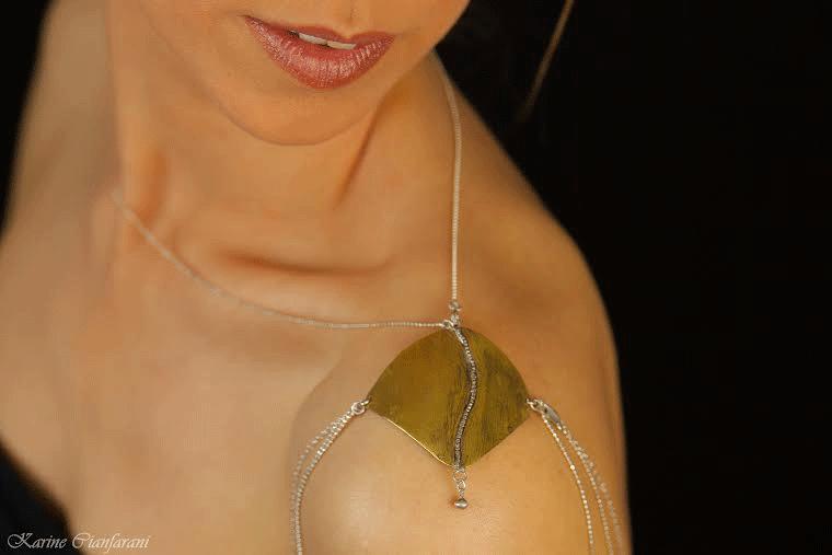 Bijou d'épaule en Bronze/argent
