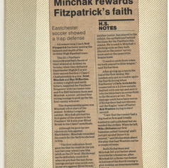 """Minchak rewards Fitzpatrick's Faith"" article."