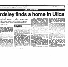 Newspaper clipping after the 1989 championship