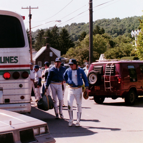 Chris McNerney and Brad Chenard getting off the bus for the final game.