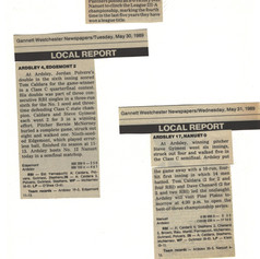 Newspaper clippings including the quarter finals and semi-finals of the opening round of the sectionals.