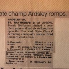 Opening game of the 1988 season vs. St. Raymond's.