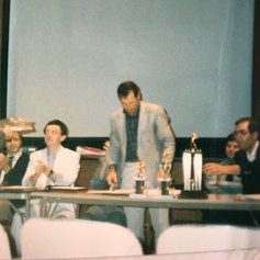 Coach at the year end award ceremony in 1986.