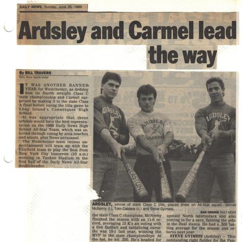 NY Daily News All-Stars featuring Bernie McNerney, Steve Gyimesi and Tom Caldara.