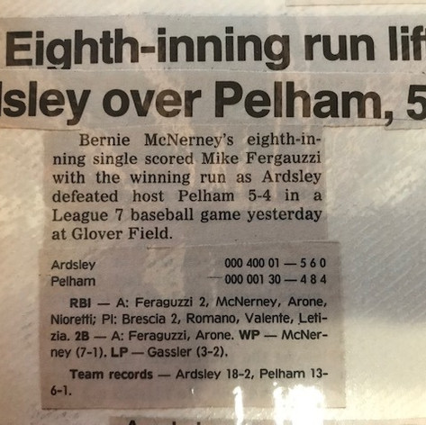 Newspaper clipping from 18th win of the year vs. Pelham.