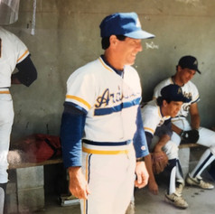 Coach in the dugout before the final game in 1988.