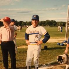 Coach Fitzpatrick at 1988 Regional game vs. Marlboro.