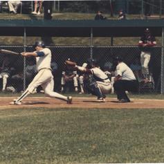 Brian Lepore hits a home run vs. Watervliet in the semi-final game.