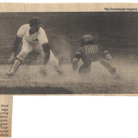 Junior Ray DiMartino vs. Sleepy Hollow from Greenburgh Inquirer.